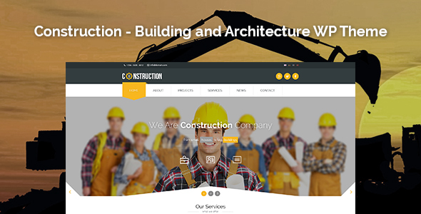 Constructions and Architecture wordpress theme